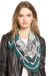 The Kooples Square Silk Scarf Navy