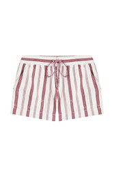 Zadig And Voltaire Cotton Paro Paye Shorts White