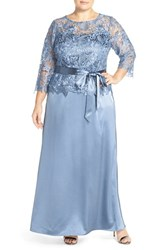 Plus Size Women's Marina Lace Bodice Mock Two Piece Gown