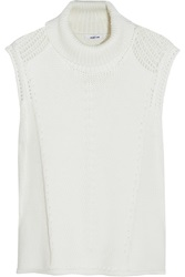 Helmut Lang Knitted Turtleneck Sweater White
