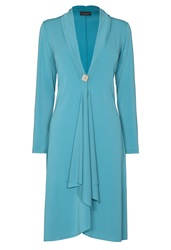 James Lakeland Crepe One Button Cardigan Aqua