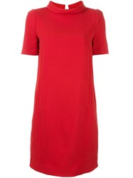 Twin Set Roll Neck Shift Dress Red