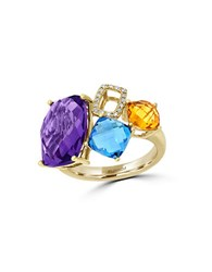 Effy Mosaic 14K Yellow Gold And Multi Colored Stone Ring