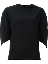Chalayan Reverse Lip Top Black