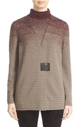 Lafayette 148 New York Women's Ombre Stitch V Neck Cardigan