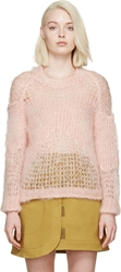 Acne Studios Light Pink Mohair Moxa Sweater