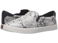 Dr. Scholl's Scout Original Collection Black Multi Snake Print Leather Women's Slip On Shoes White