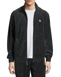 Fila Velour Stand Collar Jacket Black