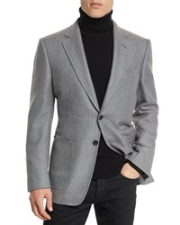 Tom Ford O'connor Base Twill Sport Jacket Gray