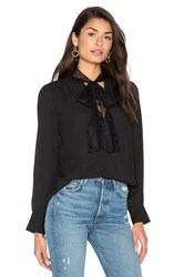Wayf Surrey Wrap Top Black