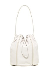 Christopher Kon The Edge Leather Bucket Bag White