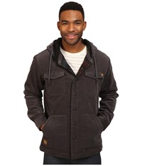 Rip Curl Dawn Patrol Cord Jacket Charcoal Men's Coat Gray