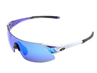 Tifosi Optics Podium Xc Mirrored Interchangeable Crystal Purple Clarion Purple Ac Red Clear Lens Athletic Performance Sport Sunglasses