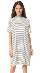 Just Female Noro Dress White Black Stripe