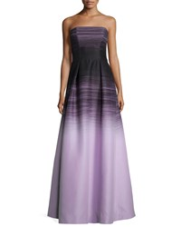 Halston Heritage Strapless Ombre Ball Gown Size 4 Black Thistle Omb