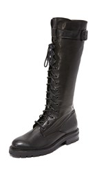 Frye Julie Lace Tall Combat Boots Black