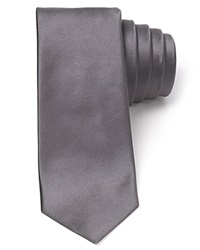 Theory Luster Satin Skinny Tie Chrome