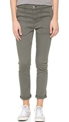 7 For All Mankind Military Skinny Pants Military Green