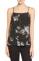 Trouve Women's Sheer Inset Silk Camisole