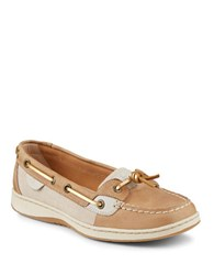 Sperry Dunefish Leather Boat Shoes Beige