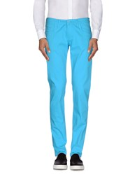 Roberto Pepe Trousers Casual Trousers Men Turquoise