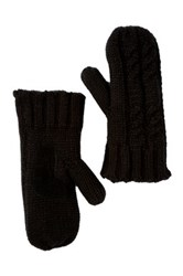 Isotoner Solid Chunky Double Cable Gloves Black
