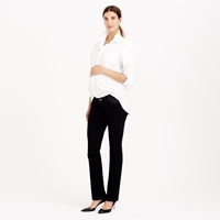 J.Crew Tall Stretch Maternity Matchstick Jean In Pitch Black Wash
