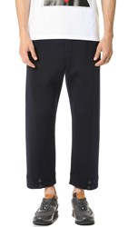 Marni Wool Jersey Trousers Navy