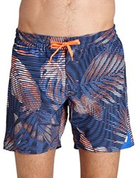 Bench Frequency Leaf Swim Trunks Blue