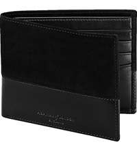 Aspinal Of London Shadow Billfold Leather Wallet Black
