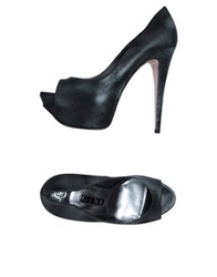 Gina Pumps With Open Toe Silver