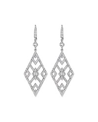 Diamond Deco Cutout Earrings Penny Preville White