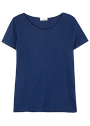 American Vintage Dark Blue Melange Cotton Blend T Shirt