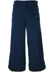 N 21 No21 Cropped Wide Leg Jeans Blue