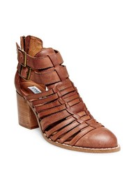 Steve Madden Frenchey Leather Booties Brown