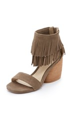 Matiko Desiree Fringe Sandals Taupe