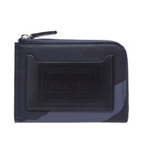 Porter Yoshida And Co. Camo Half Zip Wallet Blue
