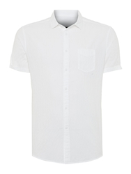 Label Lab Tuscon Light Weight Textured Short Sleeve Shirt White