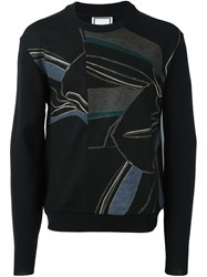 Wooyoungmi Printed Panel Jumper Black