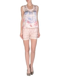 Angela Mele Milano Short Overalls Pink