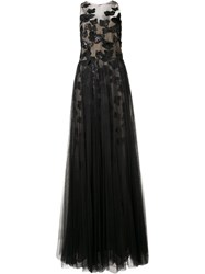 Marchesa Notte Butterfly Gown Black