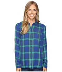 Lucky Brand Button Side Shirt Green Multi Women's Clothing