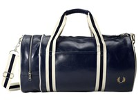 Fred Perry Classic Barrel Bag Navy Ecru Duffel Bags