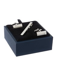 Howick Tailored Engraved Line Cufflink And Tie Slide Silver