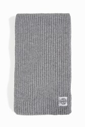 Stone Island Cotton Ribbed Scarf Grey