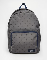 Original Penguin Backpack With All Over Print Gray