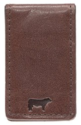 Men's Will Leather Goods 'Cibreo' Money Clip Brown
