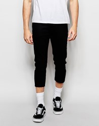 Asos Skinny Jeans In Super Cropped Length Black