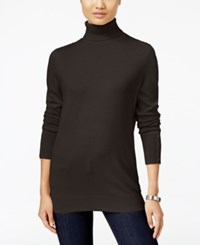 Jm Collection Petites Petite Turtleneck Sweater Only At Macy's Espresso Roast