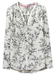 Joules Rosamund Printed Blouse Cream Winterberry